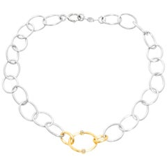 Jude Frances Mixed Metal Large Chain Necklace with Diamond Kits