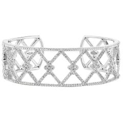 Jude Frances Silver and White Topaz Cuff