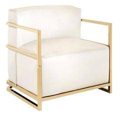 Jude White Armchair