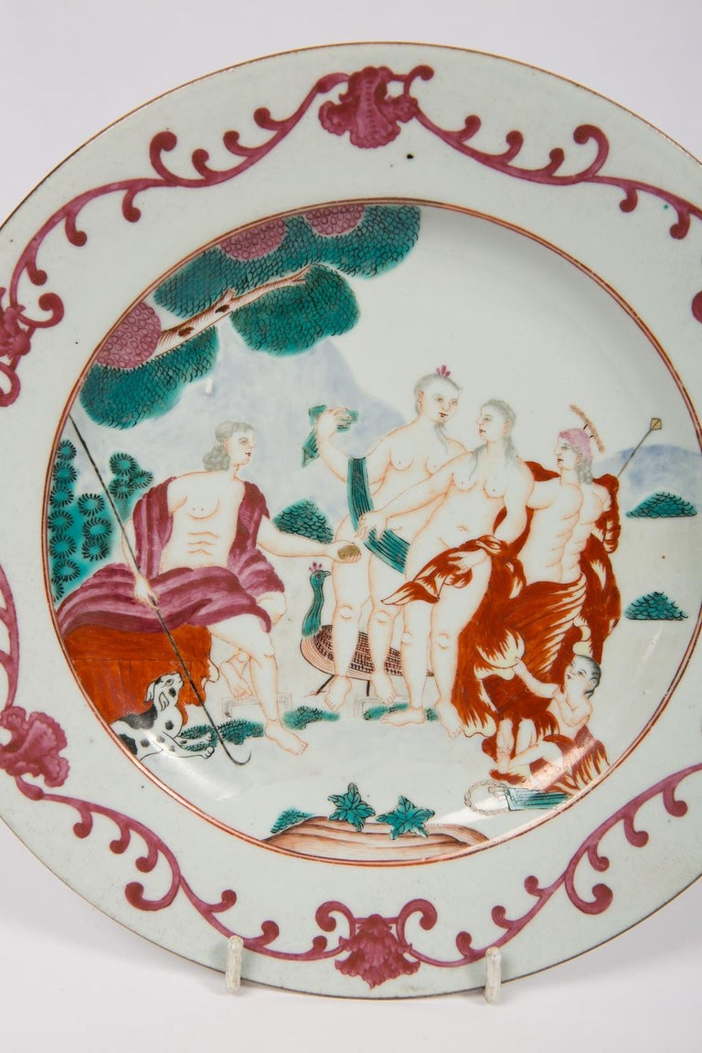 Porcelain Judgment of Paris Chinese Export Plate For Sale