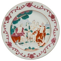 Judgement of Paris Chinese Export Plate circa 1750
