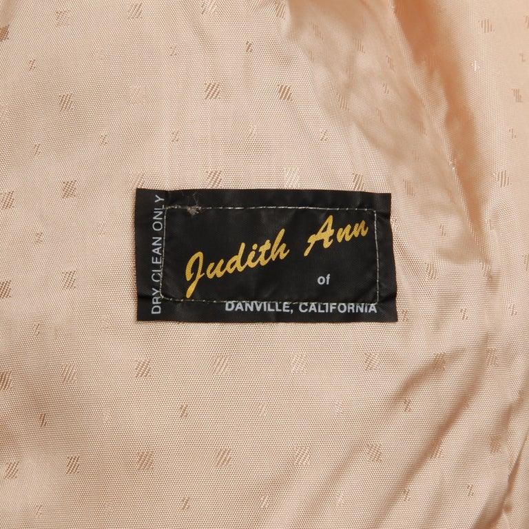 Judith Ann Vintage Heavy + Warm Wool Shaggy Faux Fur Jacket or Coat 1980s For Sale 1