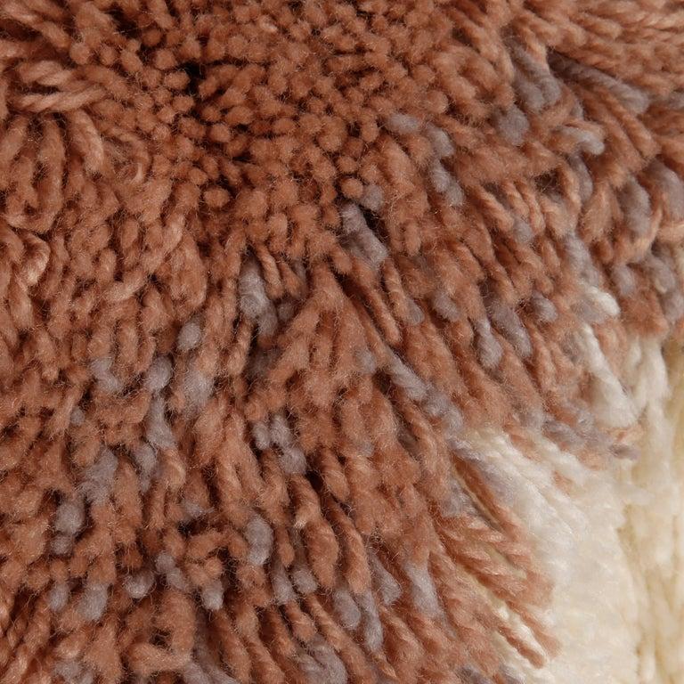 Judith Ann Vintage Heavy + Warm Wool Shaggy Faux Fur Jacket or Coat 1980s For Sale 2