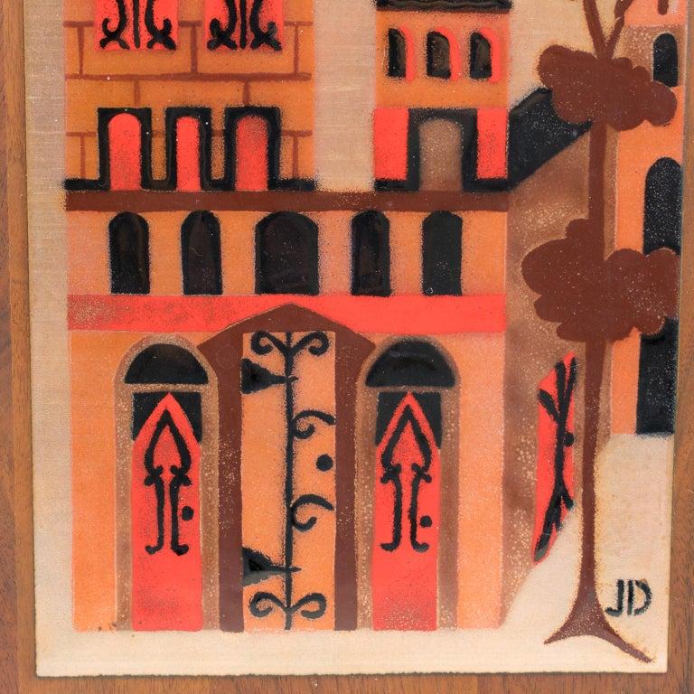 Judith Daner Enamel Artwork Wall Panel Cityscape, a pair For Sale 5