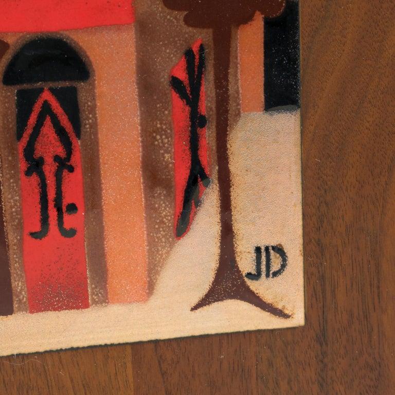 Judith Daner Enamel Artwork Wall Panel Cityscape, a pair For Sale 6