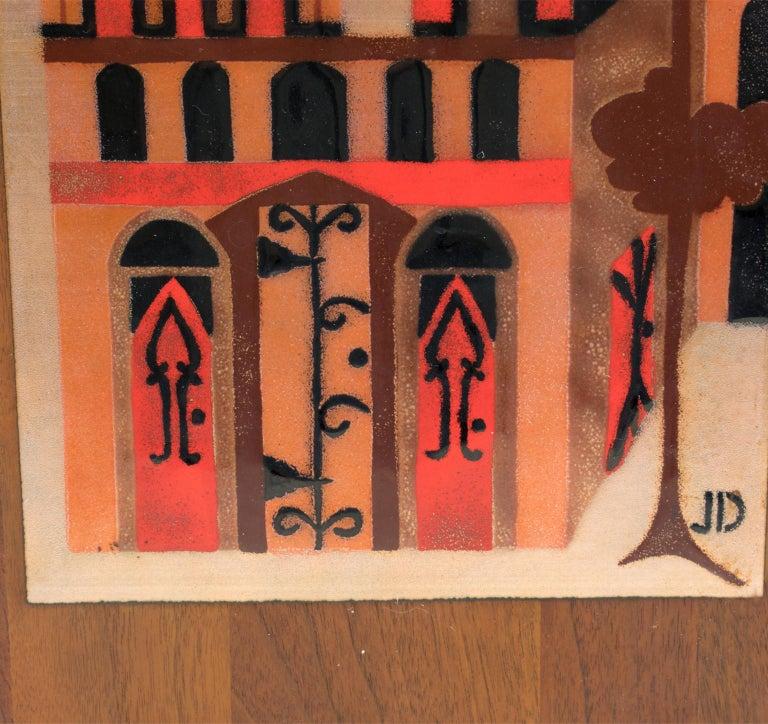 Judith Daner Enamel Artwork Wall Panel Cityscape, a pair For Sale 8