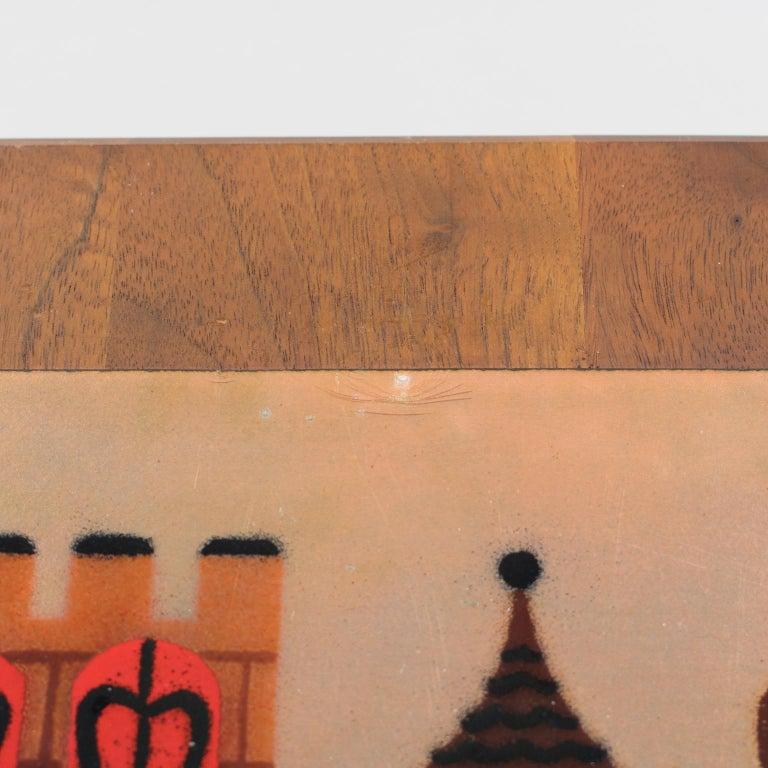 Judith Daner Enamel Artwork Wall Panel Cityscape, a pair For Sale 9