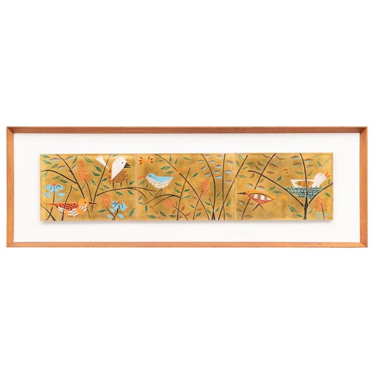 Judith Daner Enamel Wall Plaque For Sale