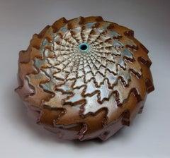 """Autumn Snow"", Contemporary, Ceramic, Sculpture, Geometric Patterning, Glaze"
