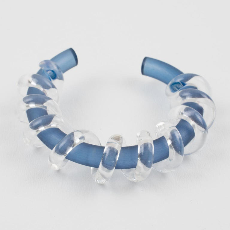 Lovely Judith Hendler Lucite or Acrylic cuff bracelet bangle from her collection