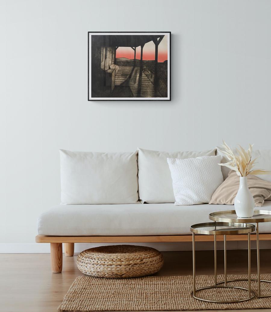 """1970s """"Motherlode"""" CA Landscape Lithograph"""