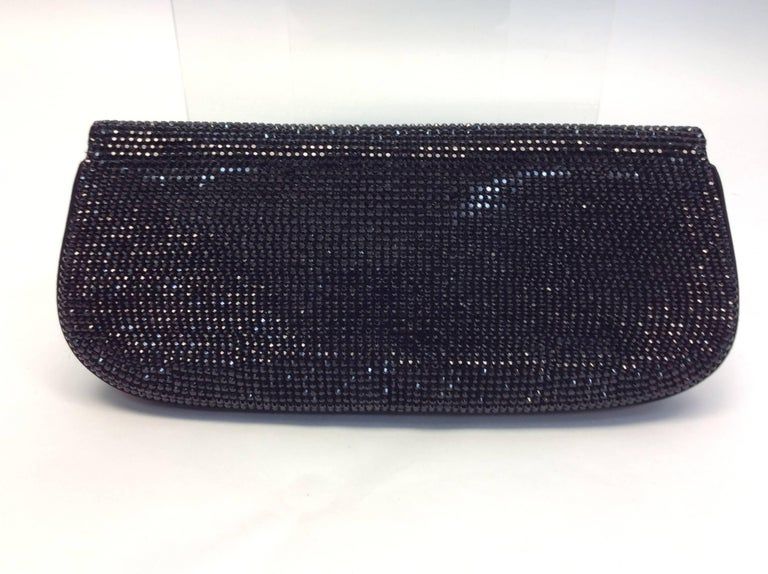 Judith Leiber Black Beaded Clutch In Excellent Condition For Sale In Narberth, PA