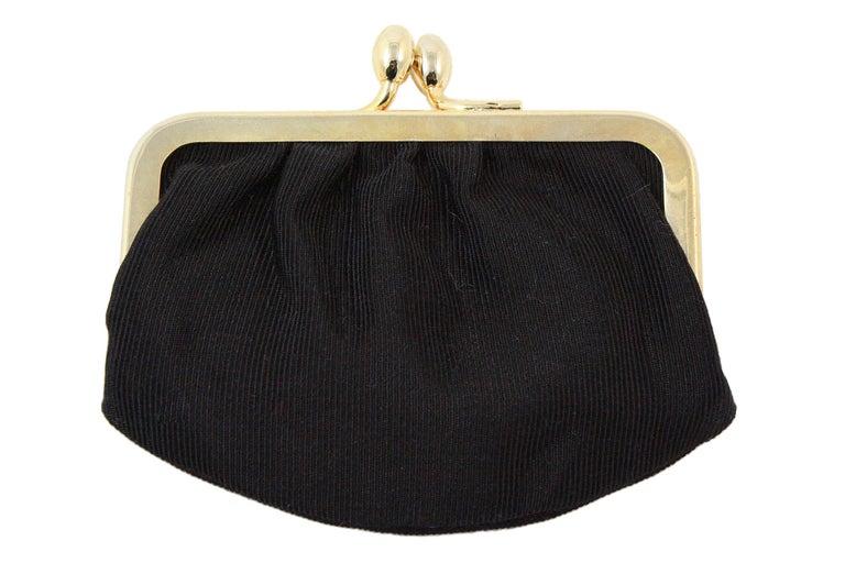 Judith Leiber Black Snakeskin Leather Clutch with Fringe Tassel For Sale 7