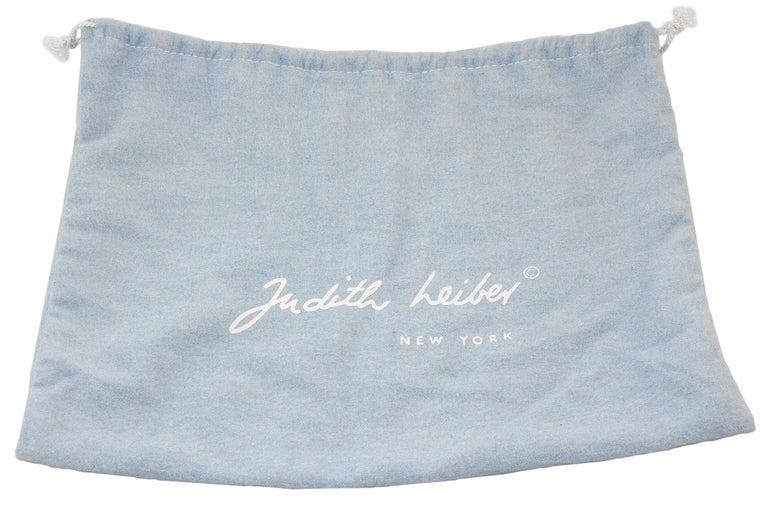 Judith Leiber Black Snakeskin Leather Clutch with Fringe Tassel For Sale 8
