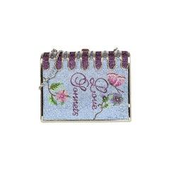 "Judith Leiber Blue Purple ""Love Sonnets"" Book Minaudiere Bag"