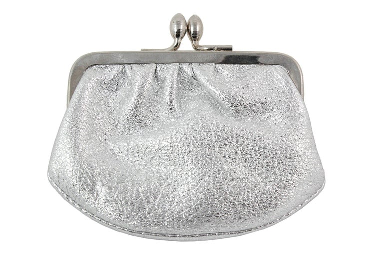 Judith Leiber Clear and Green Rhinestone Clutch For Sale 8