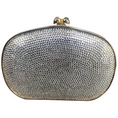 Judith Leiber Embellished Evening Box Clutch