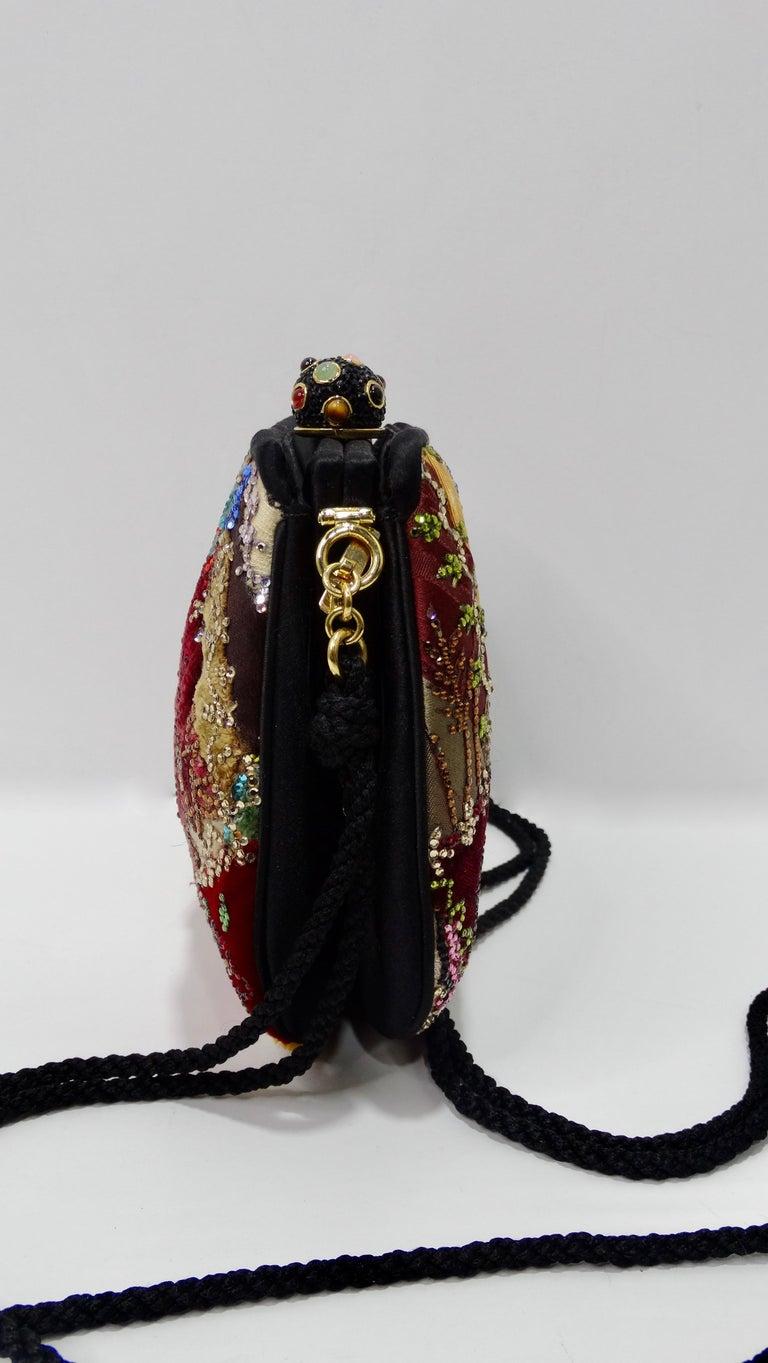 Judith Leiber Embellished Patchwork Bag For Sale 1