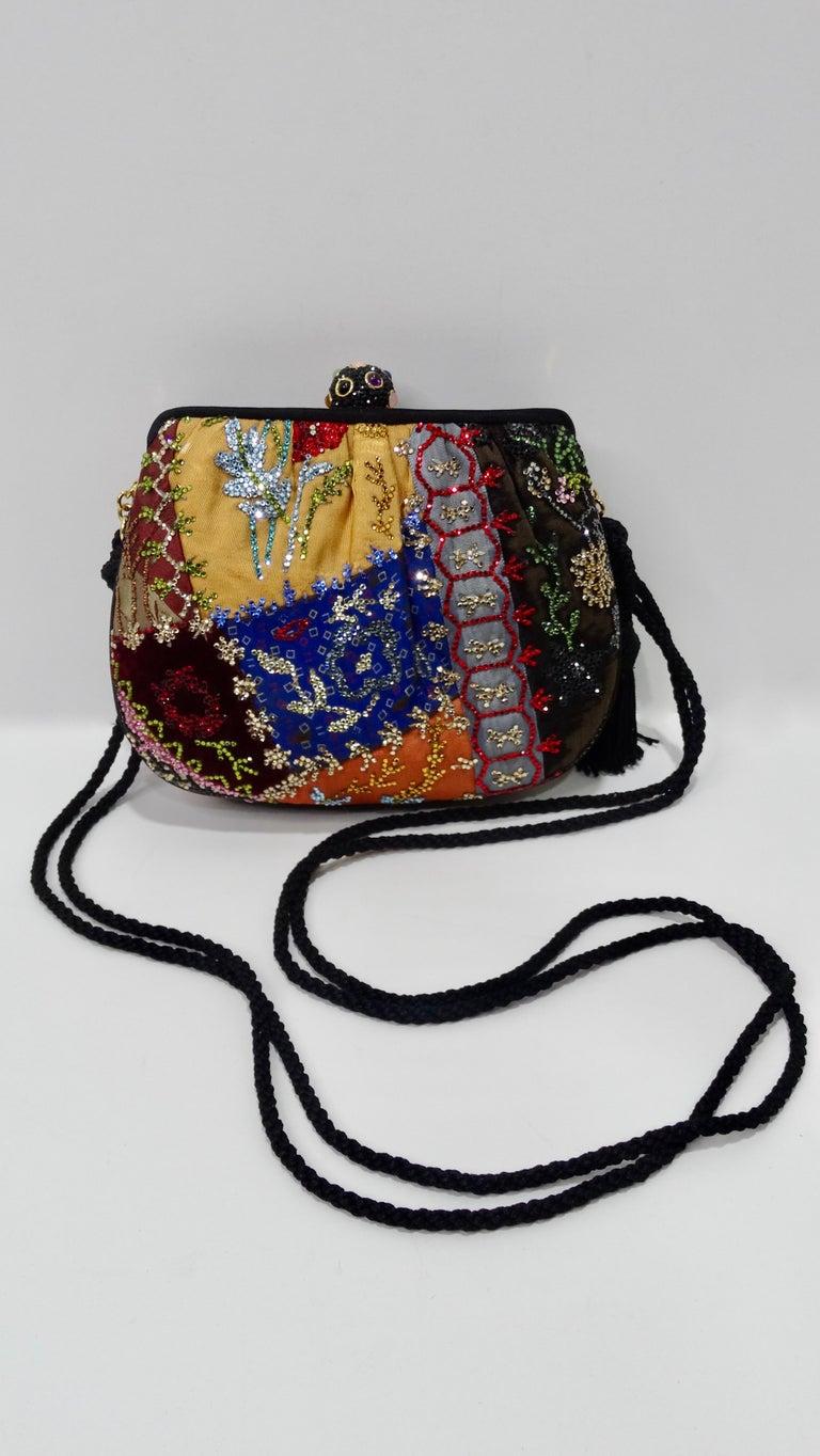 Judith Leiber Embellished Patchwork Bag For Sale 2