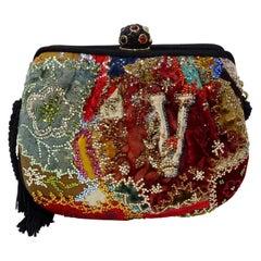 Judith Leiber Embellished Patchwork Bag