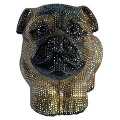Judith Leiber Limited Edition Millie Bulldog Minaudiere with strap