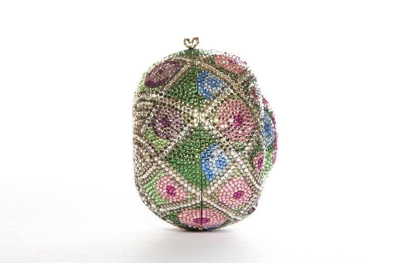 Gray JUDITH LEIBER  Multi Color Faberge Egg Evening Bag Sale For Sale