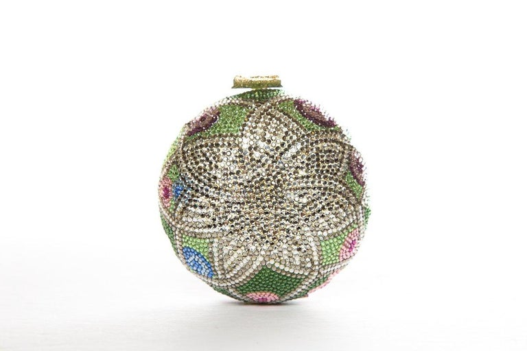 JUDITH LEIBER  Multi Color Faberge Egg Evening Bag Sale In Good Condition For Sale In Scottsdale, AZ