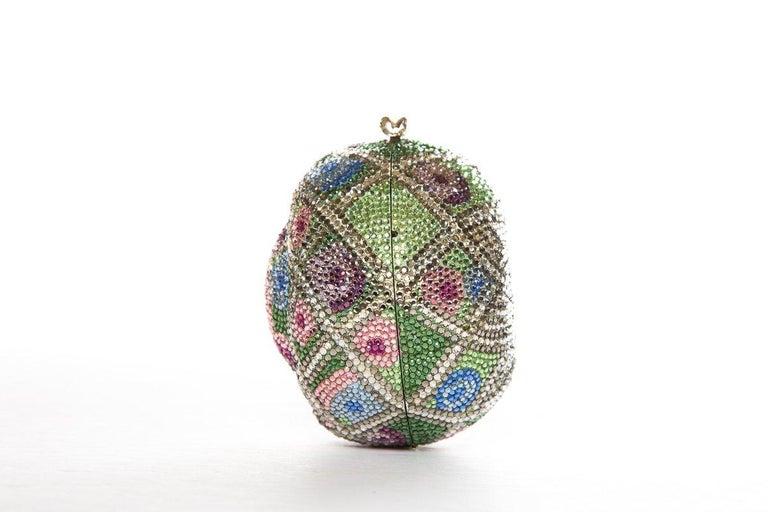 Women's JUDITH LEIBER  Multi Color Faberge Egg Evening Bag Sale For Sale