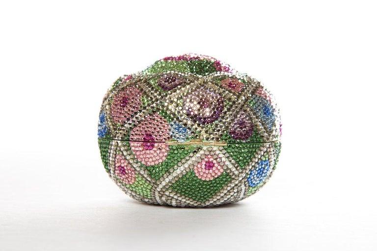 JUDITH LEIBER  Multi Color Faberge Egg Evening Bag Sale For Sale 1