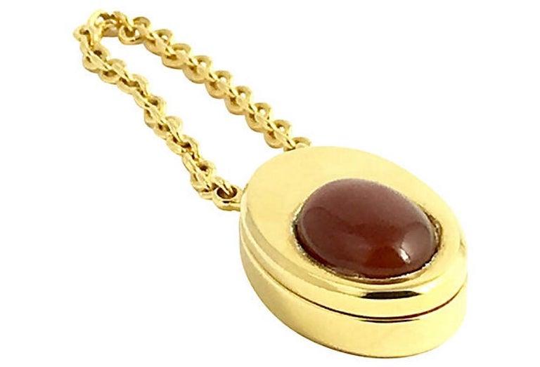 Beige Judith Leiber Perfume Bottle Keychain Key Holder For Sale