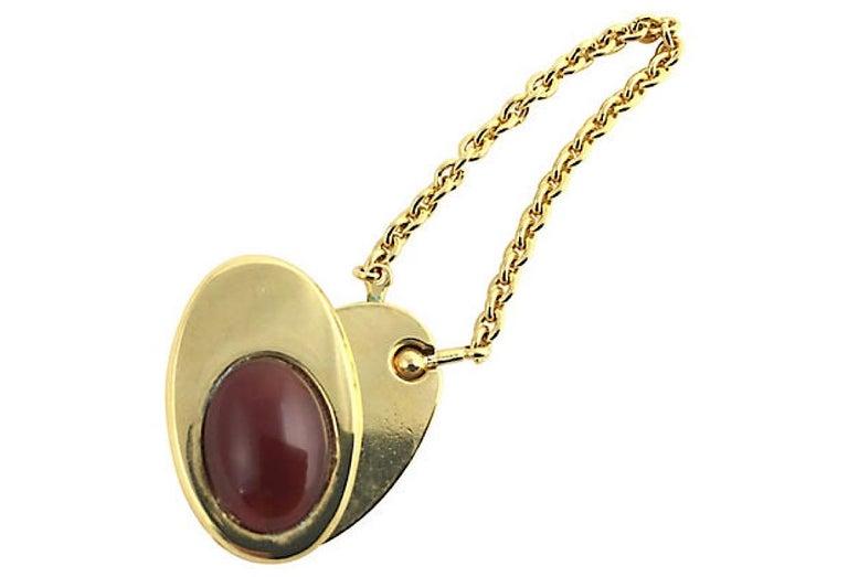 Women's or Men's Judith Leiber Perfume Bottle Keychain Key Holder For Sale