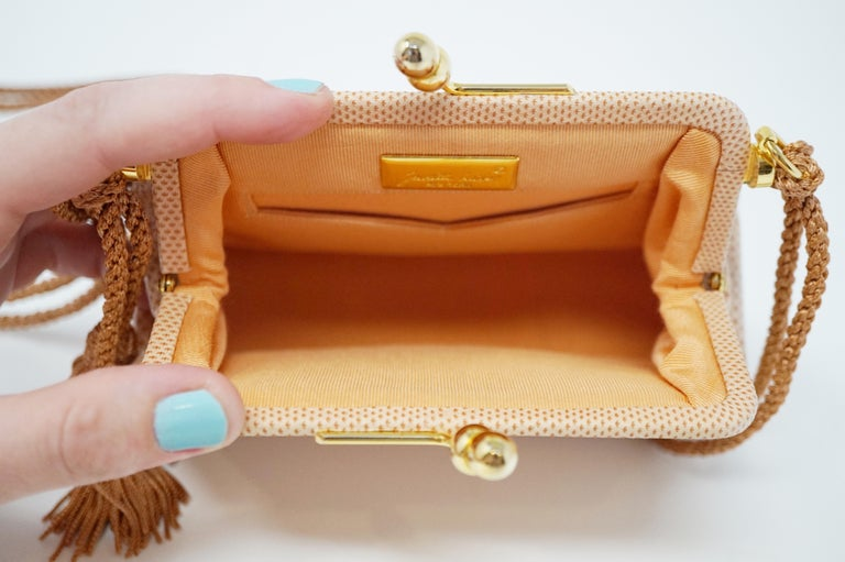 Judith Leiber Pink Lizard Evening Bag, circa 1980 For Sale 2