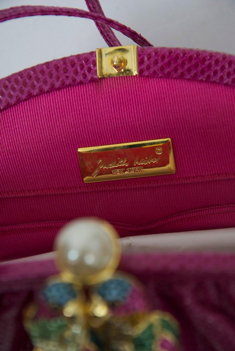 Judith Leiber Pink Parrot Clutch For Sale 6