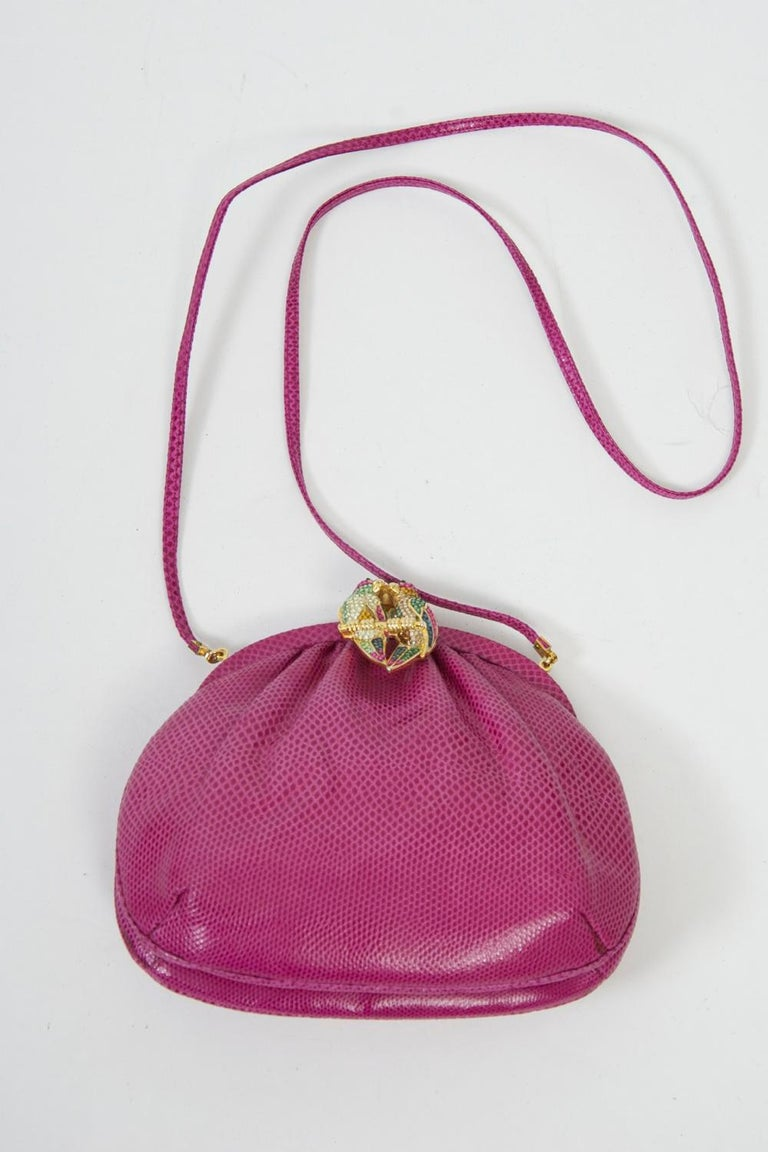 Judith Leiber Pink Parrot Clutch For Sale 4