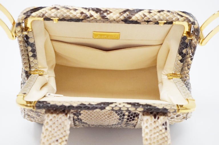 Judith Leiber Python Structured Frame Bag with Trio of Accessories For Sale 5