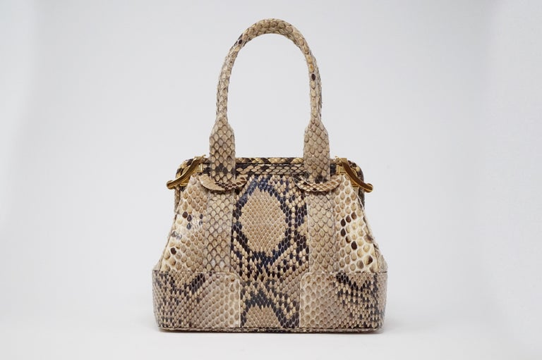 Women's Judith Leiber Python Structured Frame Bag with Trio of Accessories For Sale