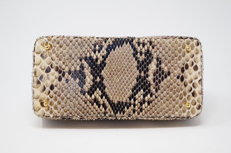 Judith Leiber Python Structured Frame Bag with Trio of Accessories For Sale 1