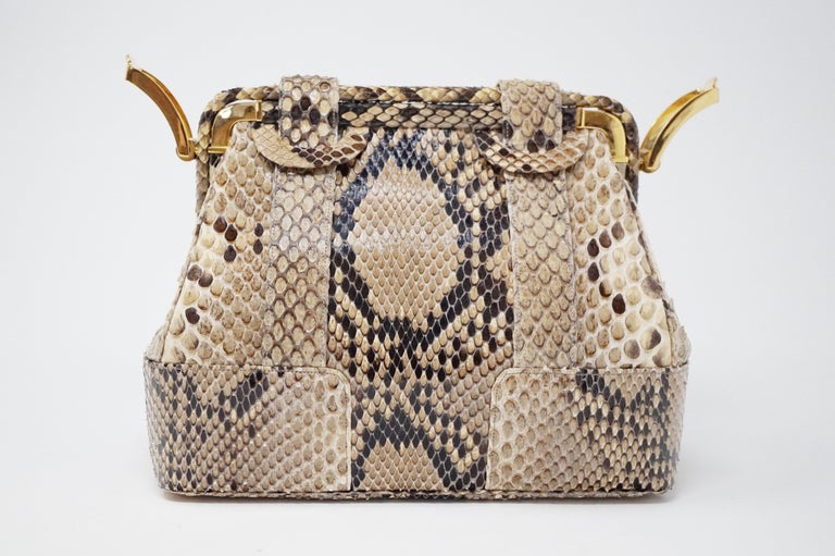Judith Leiber Python Structured Frame Bag with Trio of Accessories For Sale 2