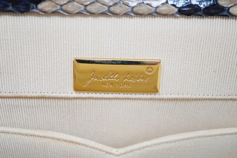 Judith Leiber Python Structured Frame Bag with Trio of Accessories For Sale 3