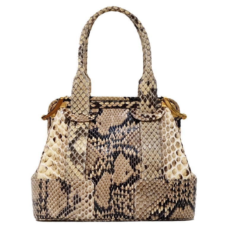 Judith Leiber Python Structured Frame Bag with Trio of Accessories For Sale