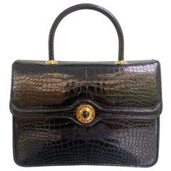 Judith Leiber Rare Vintage Alligator Kelly Flap Bag