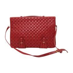Judith Leiber Red Leather Messenger Bag