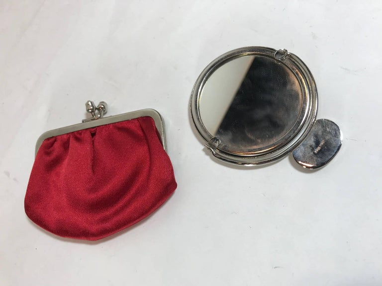 Judith Leiber Red Satin Clutch For Sale 6