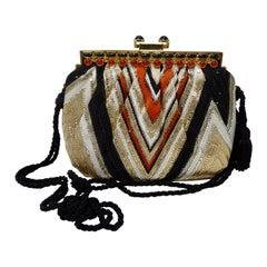 Judith Leiber Rhinestoned Chevron Evening Bag