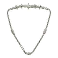 Judith Leiber Silver Waist Belt