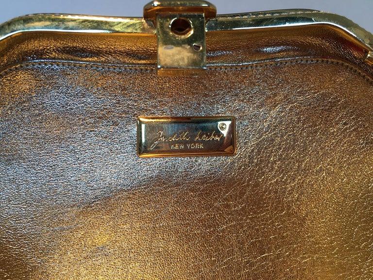 Judith Leiber Swarovski Crystal Gemstone Shell Minaudiere Evening Bag For Sale 4