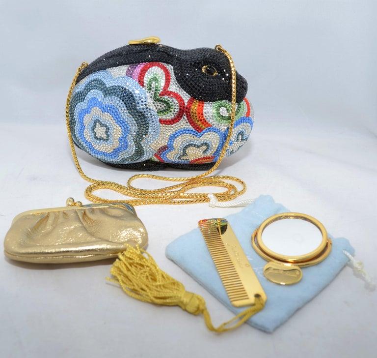 Judith Leiber Swarovski Crystal Rabbit Minaudiere For Sale 7