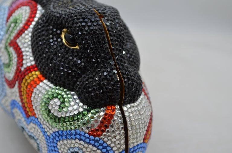 Judith Leiber Swarovski Crystal Rabbit Minaudiere For Sale 2