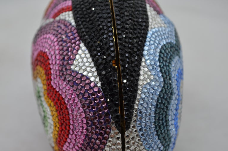 Judith Leiber Swarovski Crystal Rabbit Minaudiere For Sale 3