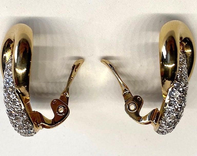 Judith Lieber Gold & Rhinestone Link Earrings For Sale 5